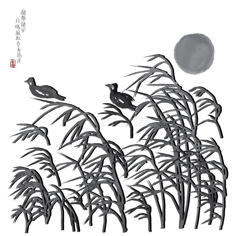 El viento de la luna se chiba imagen del pájaro libre illustration