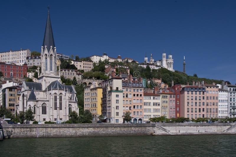 El vieux Lyon imagen de archivo libre de regalías