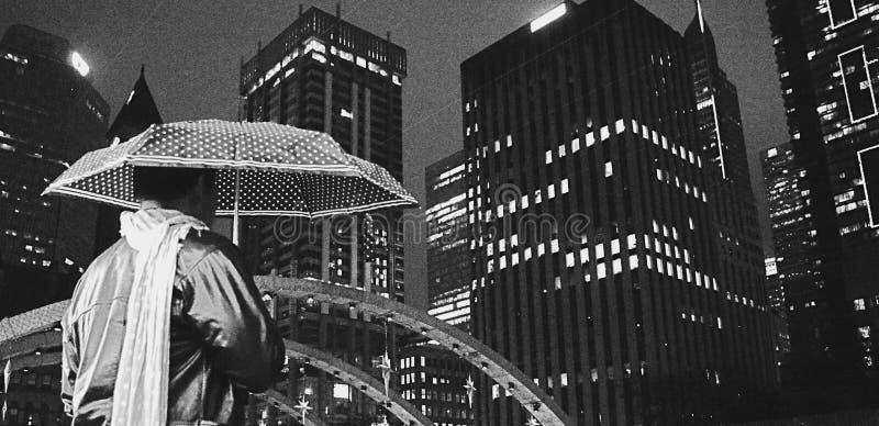 El vigilante de la noche imagen de archivo