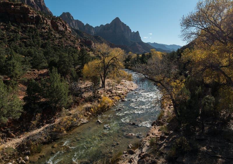 El vigilante, Zion National Park fotografía de archivo libre de regalías