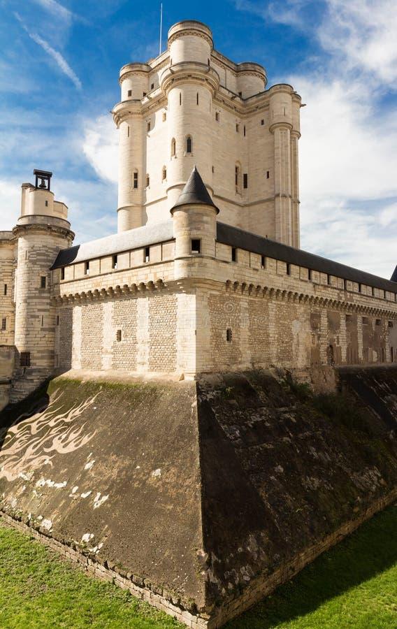 El Vincennes es castillo histórico situado en el este de París, Francia fotos de archivo libres de regalías