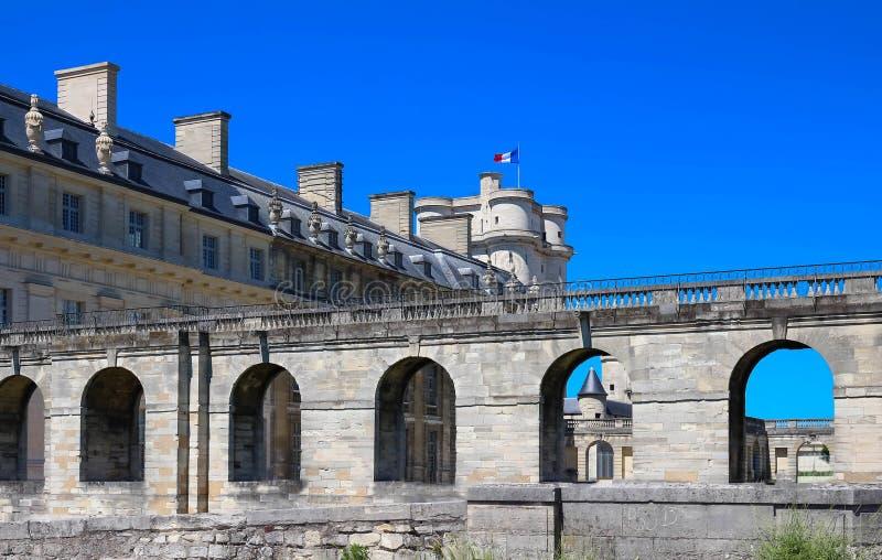 El Vincennes es castillo histórico situado en el este de París, Francia fotografía de archivo libre de regalías