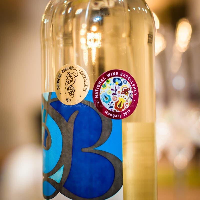 El vino concede a la excelencia nacional 2017 del vino fotografía de archivo libre de regalías