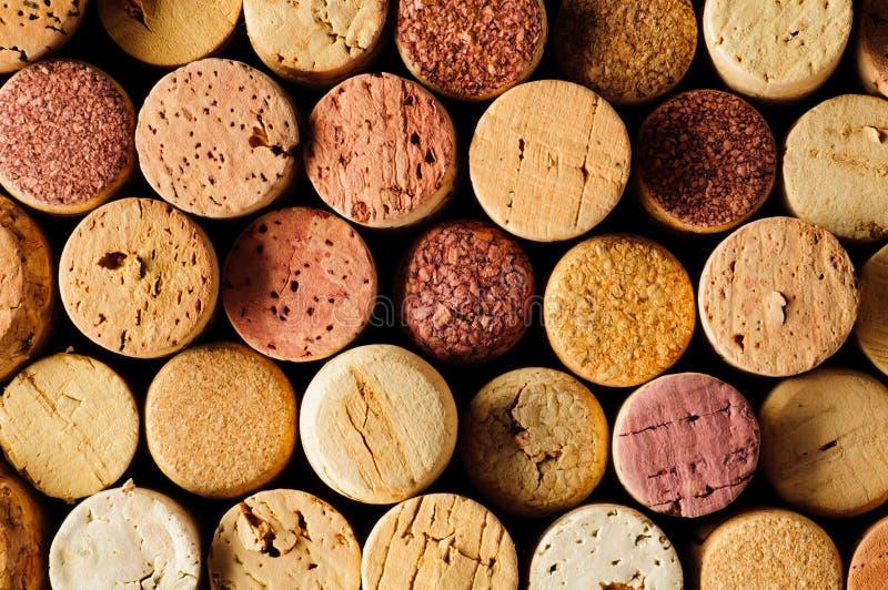 El vino tapa el fondo con corcho imagen de archivo libre de regalías