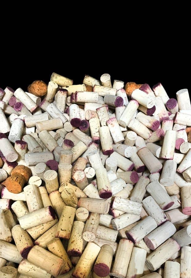 El vino tapa la celebración vertical del fondo con corcho foto de archivo libre de regalías