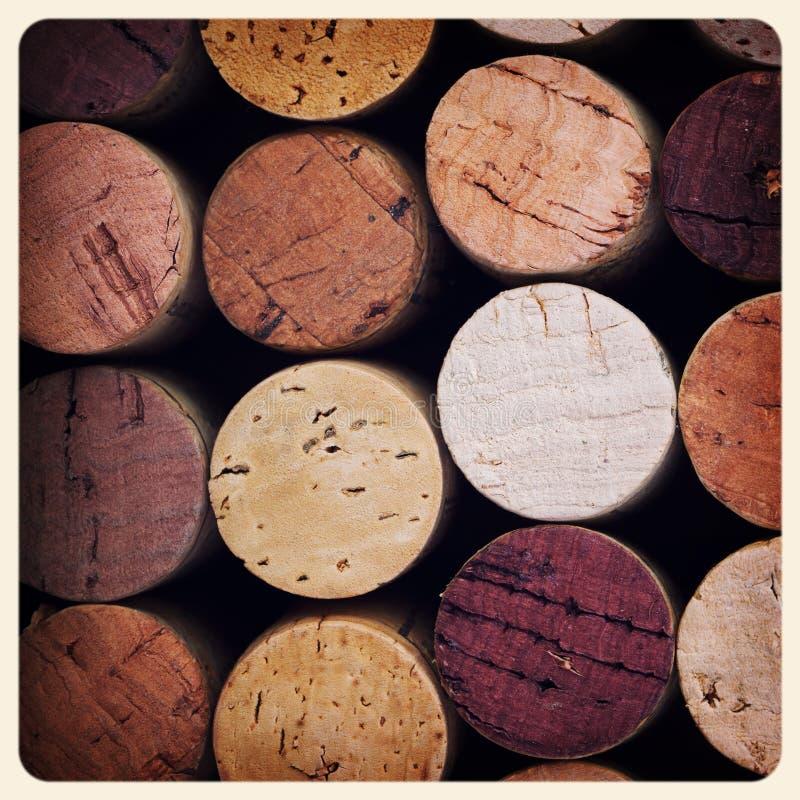 El vino tapa la foto con corcho vieja fotos de archivo