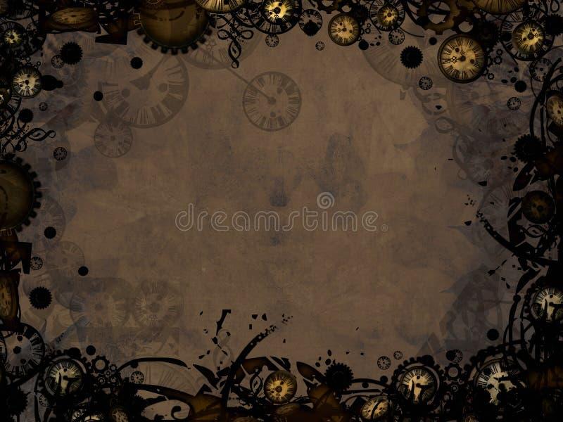 El vintage abstracto registra el fondo de la oscuridad del steampunk ilustración del vector