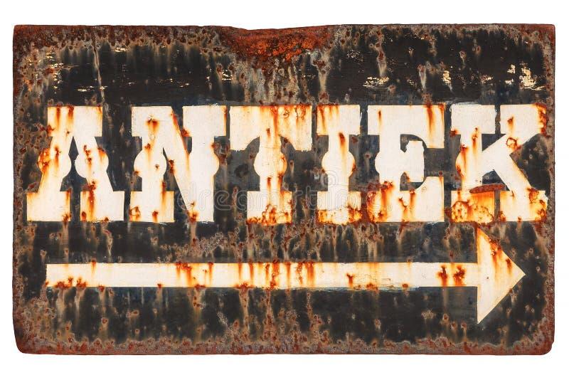 El vintage aherrumbró muestra con el ` holandés de la antigüedad del ` de la palabra aislado en wh fotos de archivo