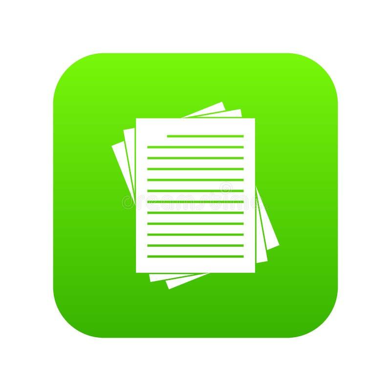 El vintage alineado empapela verde digital del icono stock de ilustración