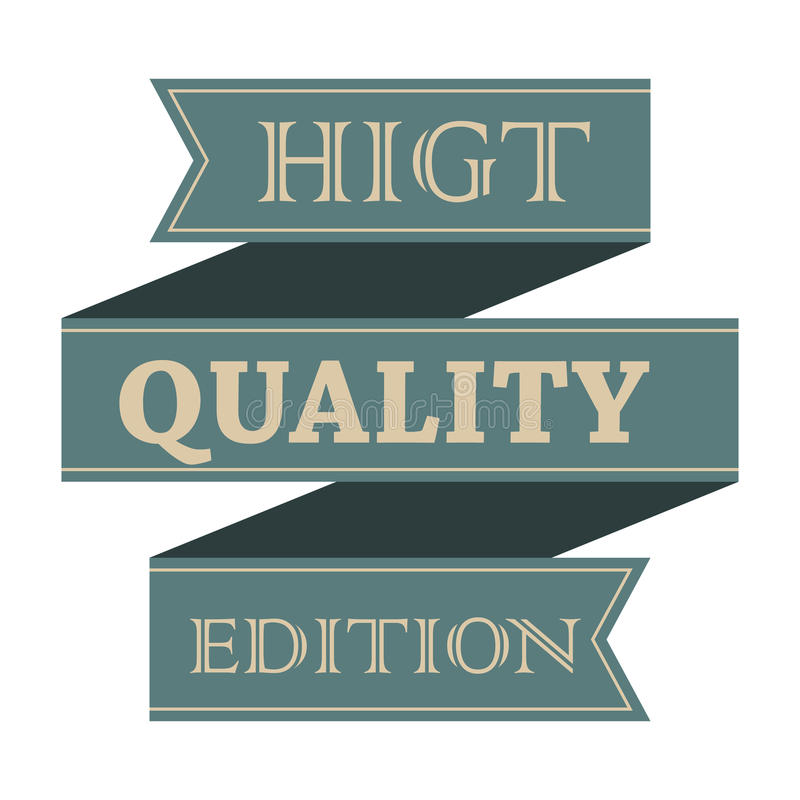 El vintage de la calidad de Higt diseñó la cinta libre illustration