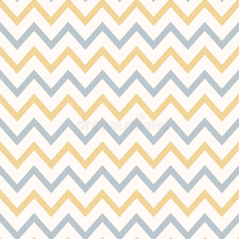 El vintage del color en colores pastel texturizó Zig Zag rayó el fondo ilustración del vector