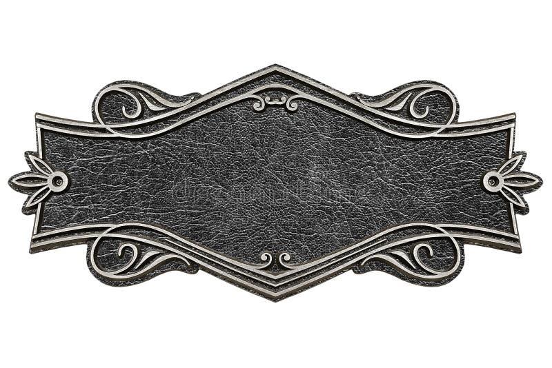 El vintage echó la placa de cuero aislada en el fondo blanco ilustración del vector
