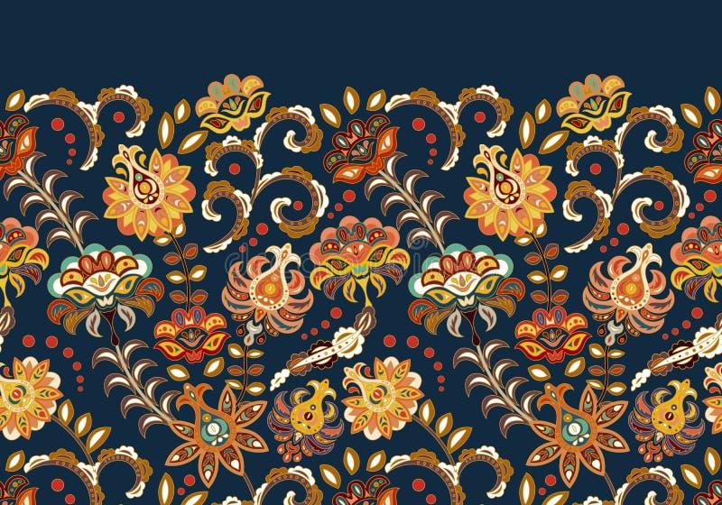 El vintage florece el fondo inconsútil en el estilo de Provence Modelo beige azul del vector en blanco ilustración del vector