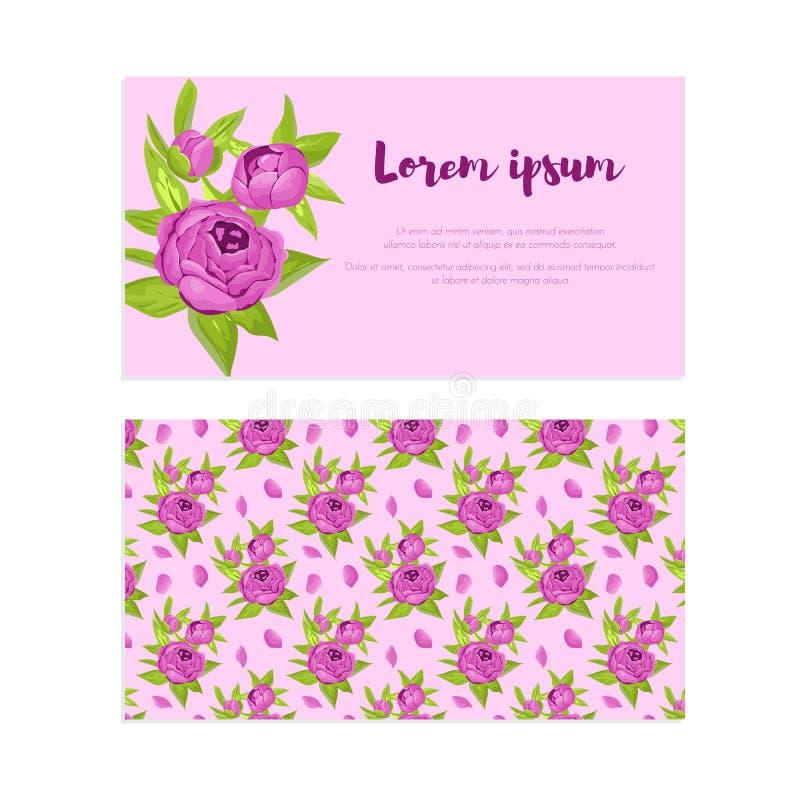 El Vintage Púrpura Florece En Marco Con La Muestra Y El Modelo Para ...