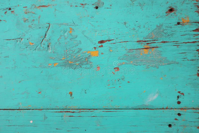 El vintage pintó textura azulverde de madera imagenes de archivo