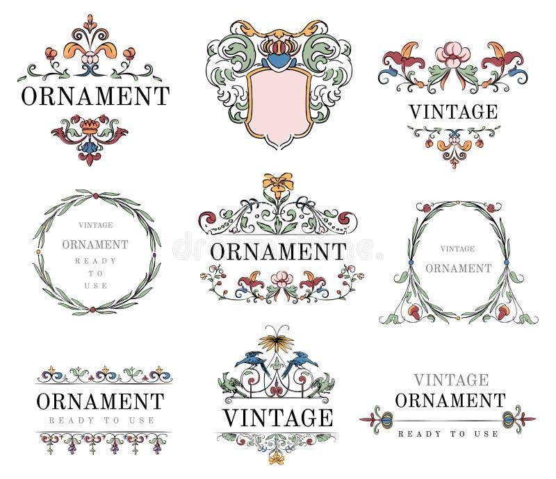 El vintage prospera vector del ejemplo del ornamento ilustración del vector