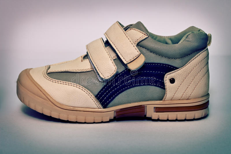 El vintage se divierte los zapatos del cuero sintético fotografía de archivo libre de regalías