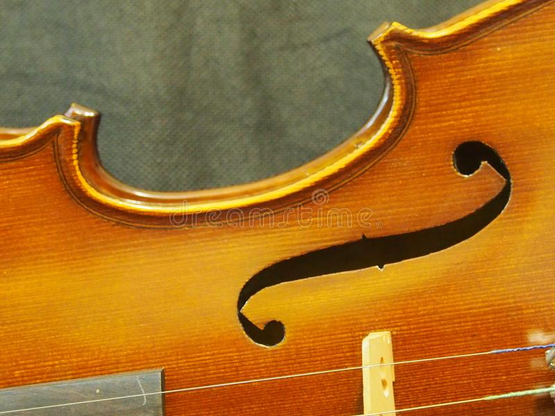 El violín retro Melody Sound Hole Music Instrument inspira foto de archivo