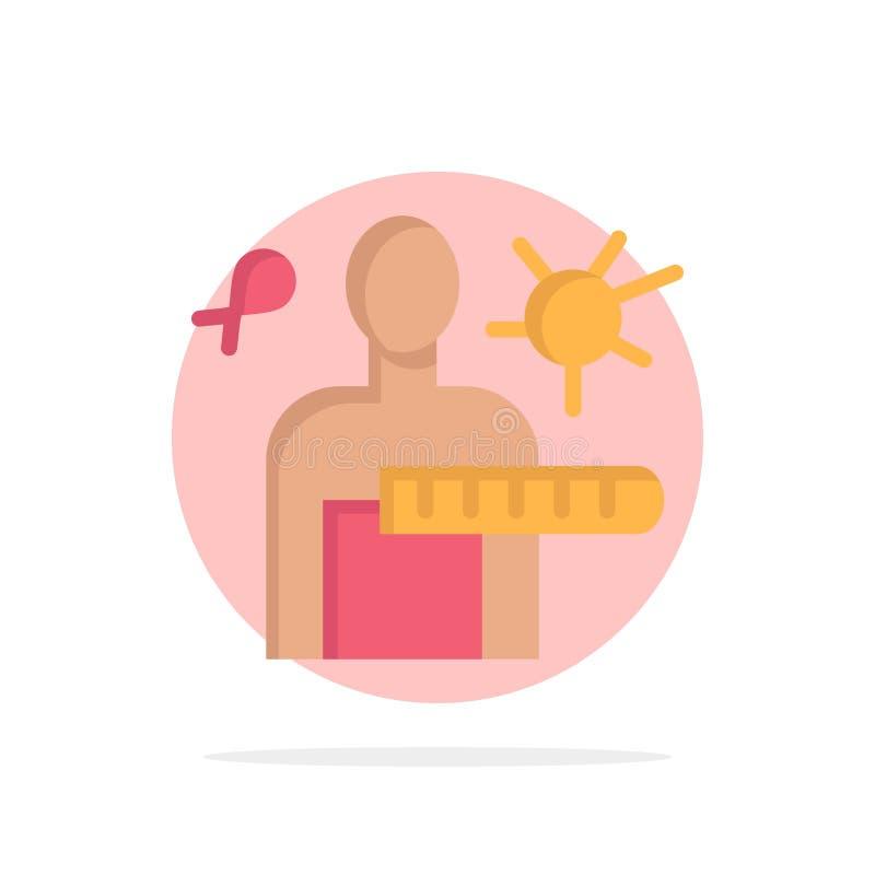 El virus, enfermedad, revisión médica, efectúa el icono plano del color de fondo abstracto del círculo ilustración del vector