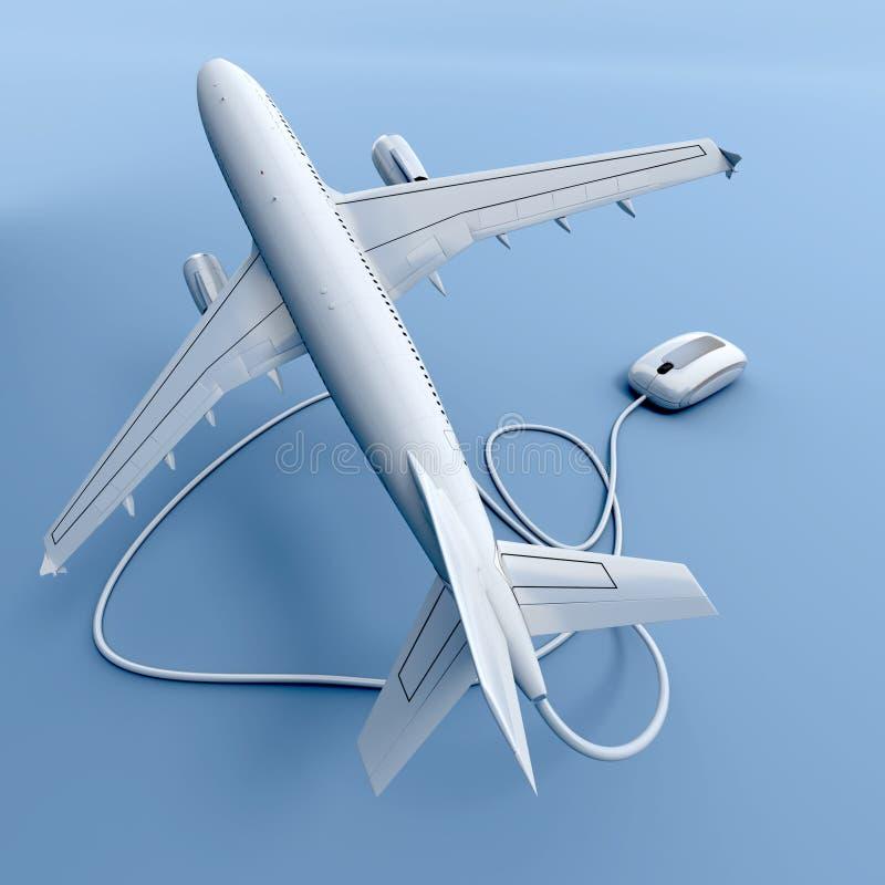 El volar en línea stock de ilustración