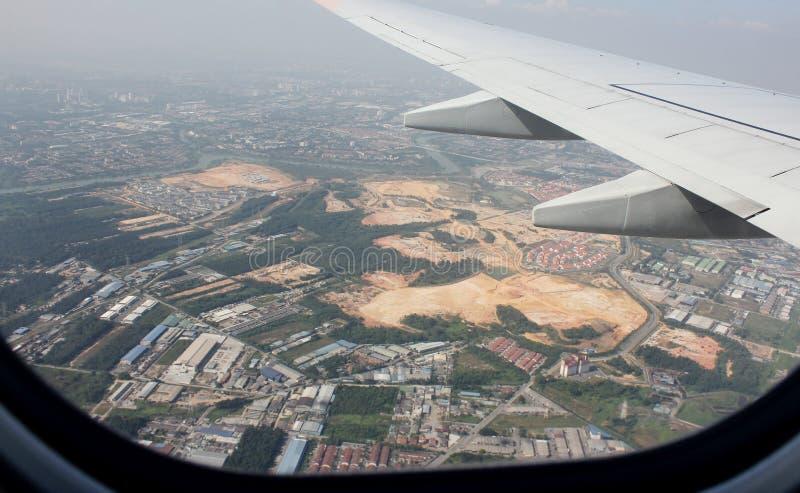 El volar sobre el área Malasia fotografía de archivo
