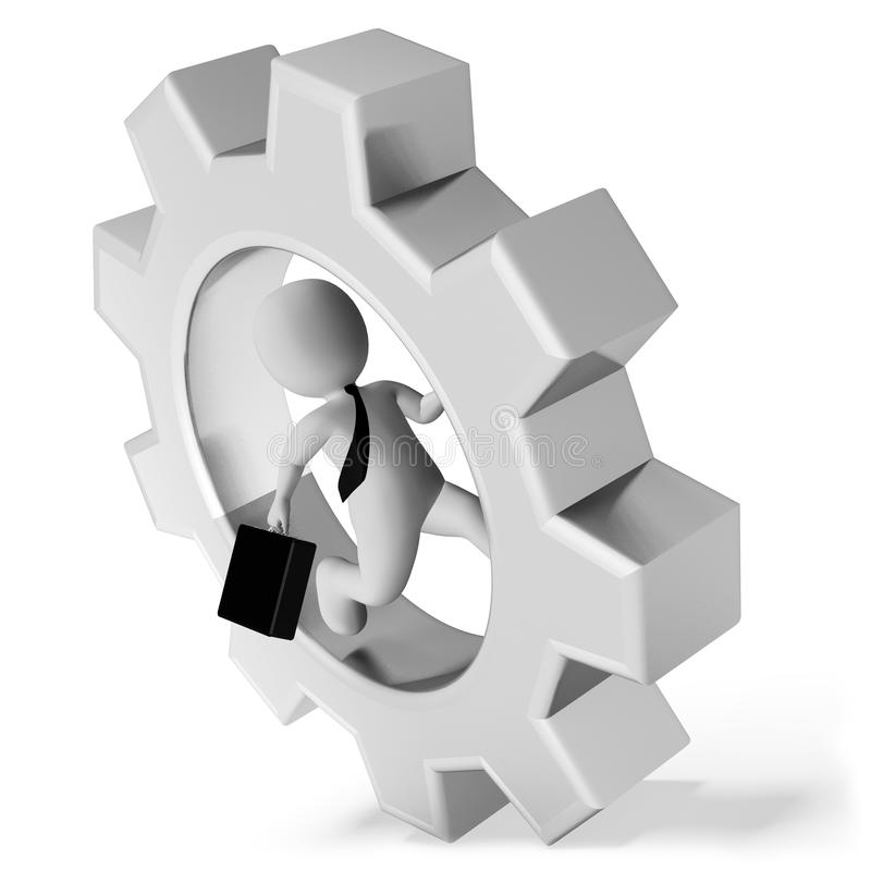 El vorágine indica la representación de la rueda y de la rueda dentada 3d de engranaje imagenes de archivo