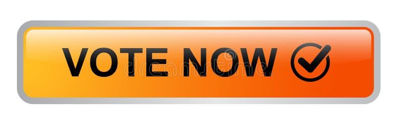 El voto ahora abotona el icono libre illustration