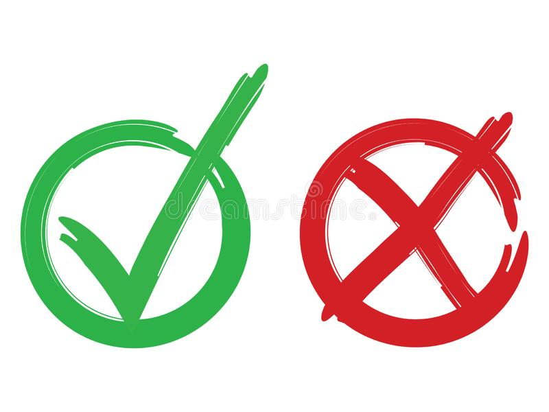 El voto marca diseño original stock de ilustración
