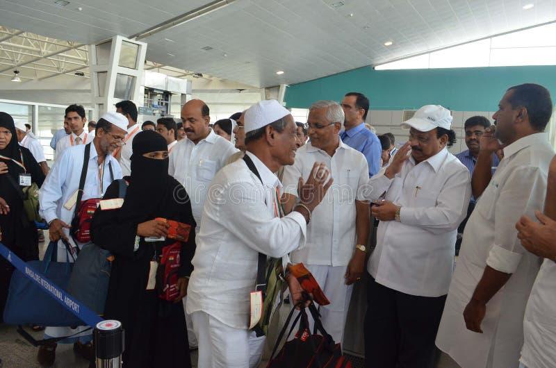 El vuelo de Haj saca del aeropuerto internacional de Mangalore imagen de archivo