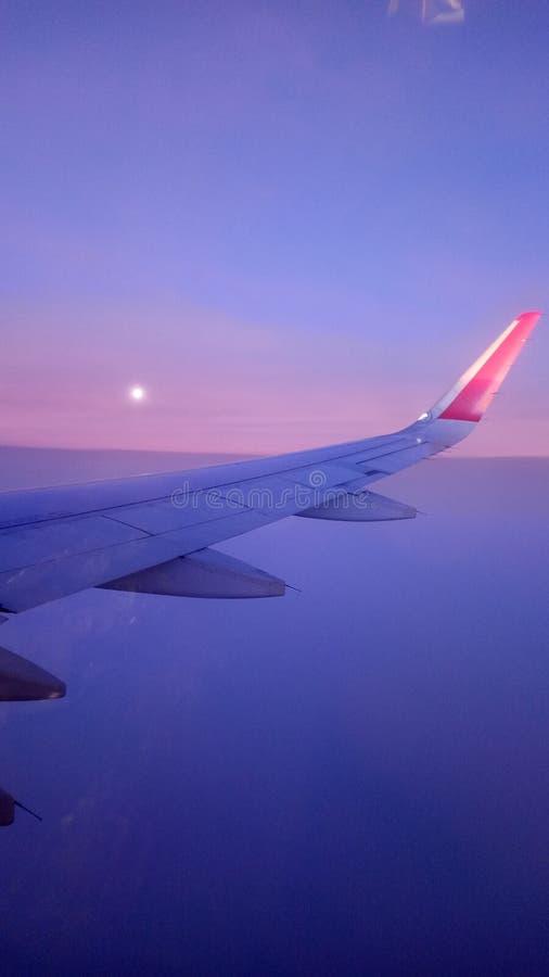 El vuelo de la luna fotos de archivo libres de regalías