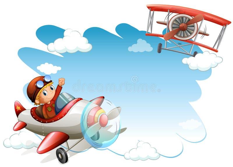 El vuelo echa en chorro marco stock de ilustración