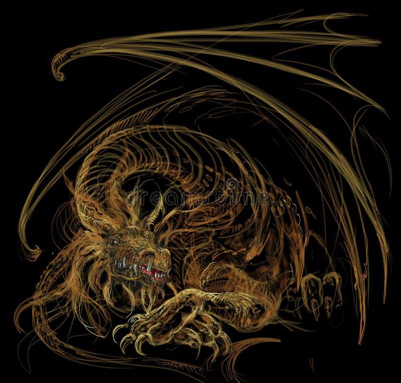 El wakening del dragón del oro libre illustration