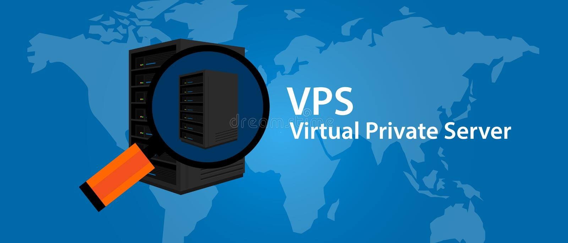 El web hosting del servidor privado virtual de VPS mantiene tecnología del infrasctructure ilustración del vector