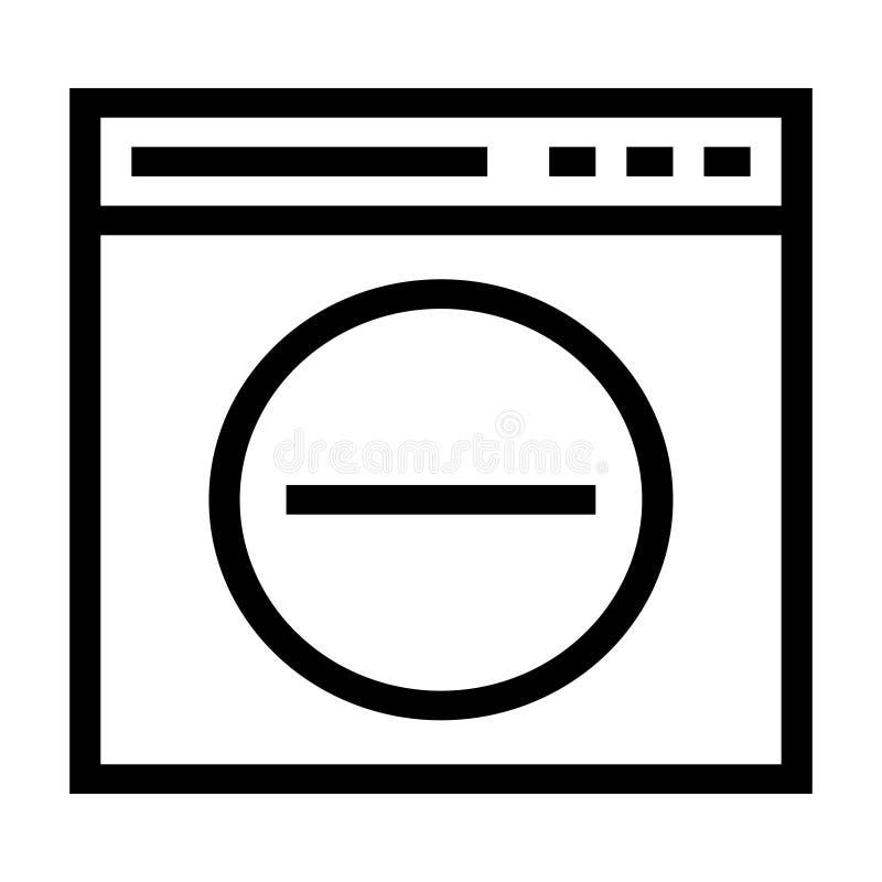 El web quita el icono ilustración del vector