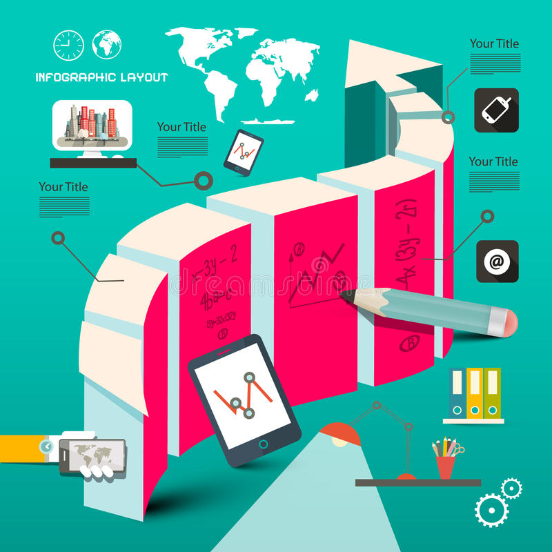 El web se digna plantilla - tecnología de la cronología libre illustration
