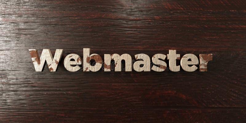 El Webmaster - título de madera sucio en arce - 3D rindió imagen común libre de los derechos libre illustration