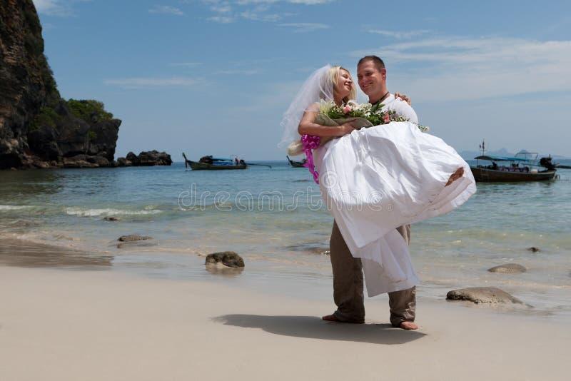 El Wedding en la playa fotos de archivo