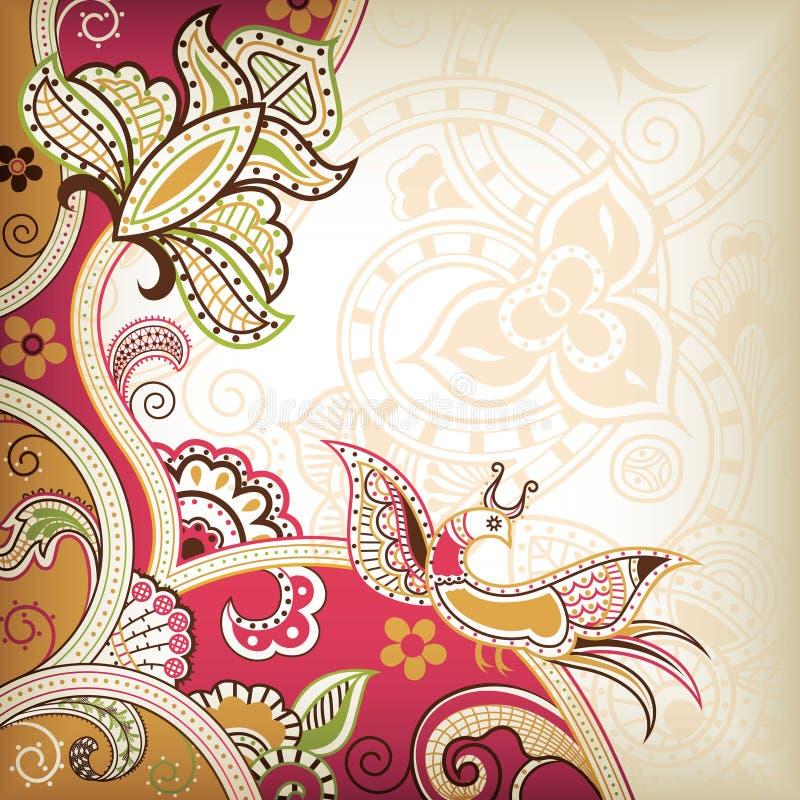 El Wedding floral libre illustration
