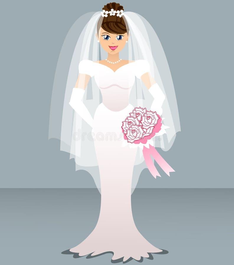 El Wedding - novia ilustración del vector