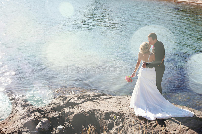 El Wedding - novia y novio fotografía de archivo libre de regalías