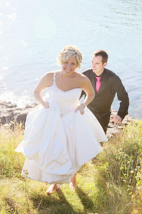 El Wedding - novia y novio foto de archivo libre de regalías