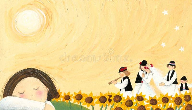 El Wedding - tradición popular ilustración del vector
