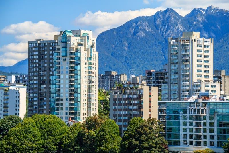 El West End de Vancouver imagenes de archivo
