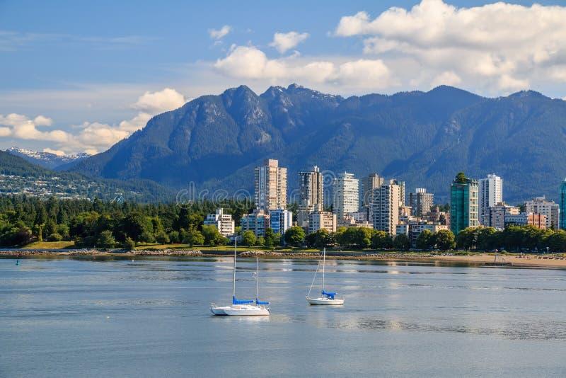 El West End de Vancouver foto de archivo