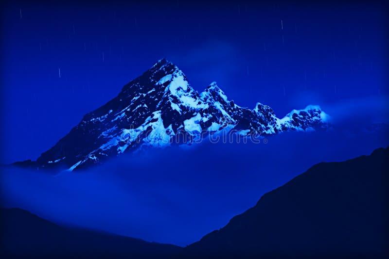 El wulkanu Ny Ołtarzowa noc obraz royalty free