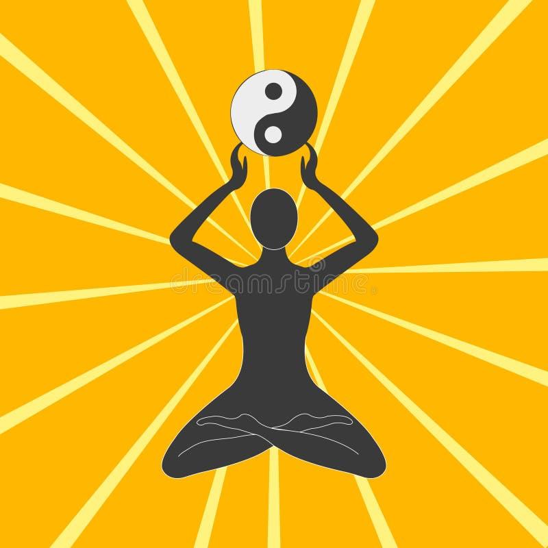 El yin-enero ilustración del vector
