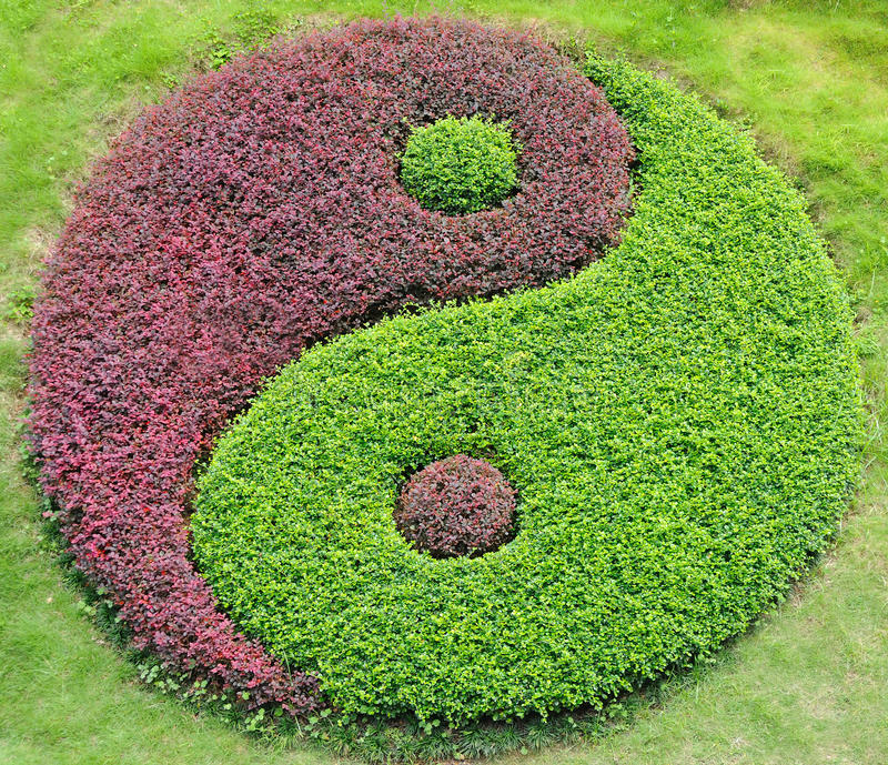 El yin y el yang foto de archivo