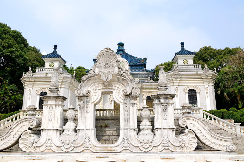 El ying europeo del yuan de la arquitectura guan foto de archivo