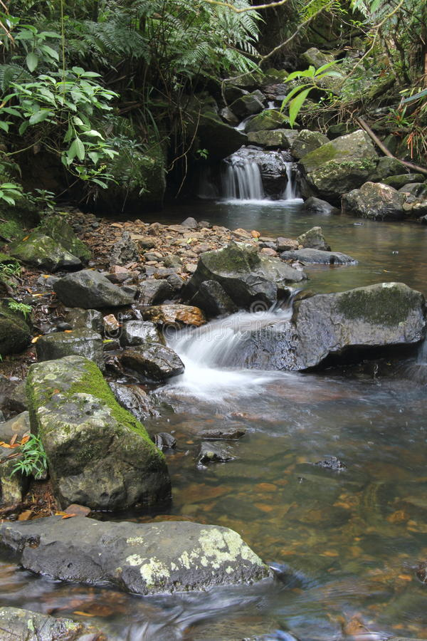 El Yuque waterfall stock image