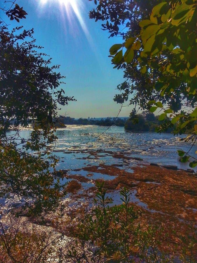 El Zambeze Rive foto de archivo